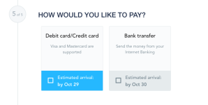 Click to enlarge image - Step 5: How would you like to pay?
